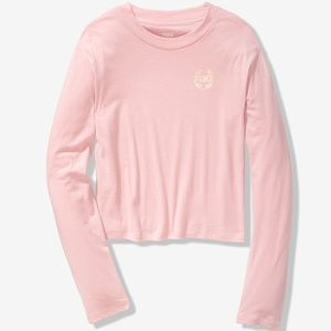 VS PINK Everyday Long Sleeve Cropped Tee